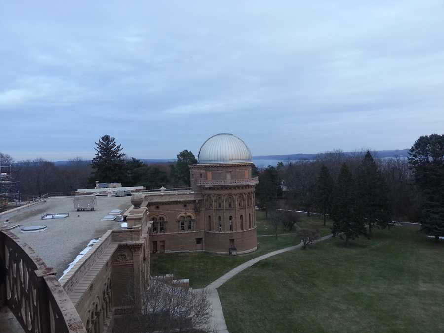 The observatory sits on Geneva Lake.