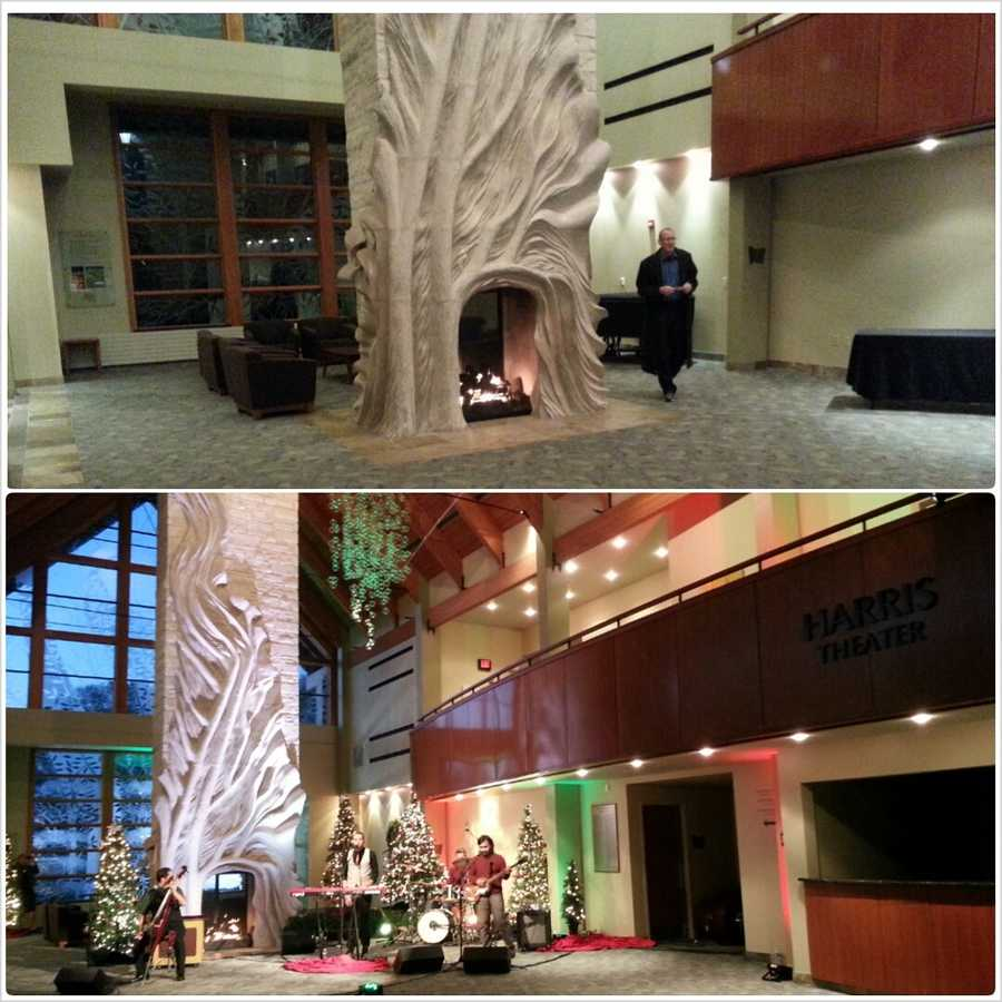 Take a look at this transformation of the lobby area of the Wilson Center.