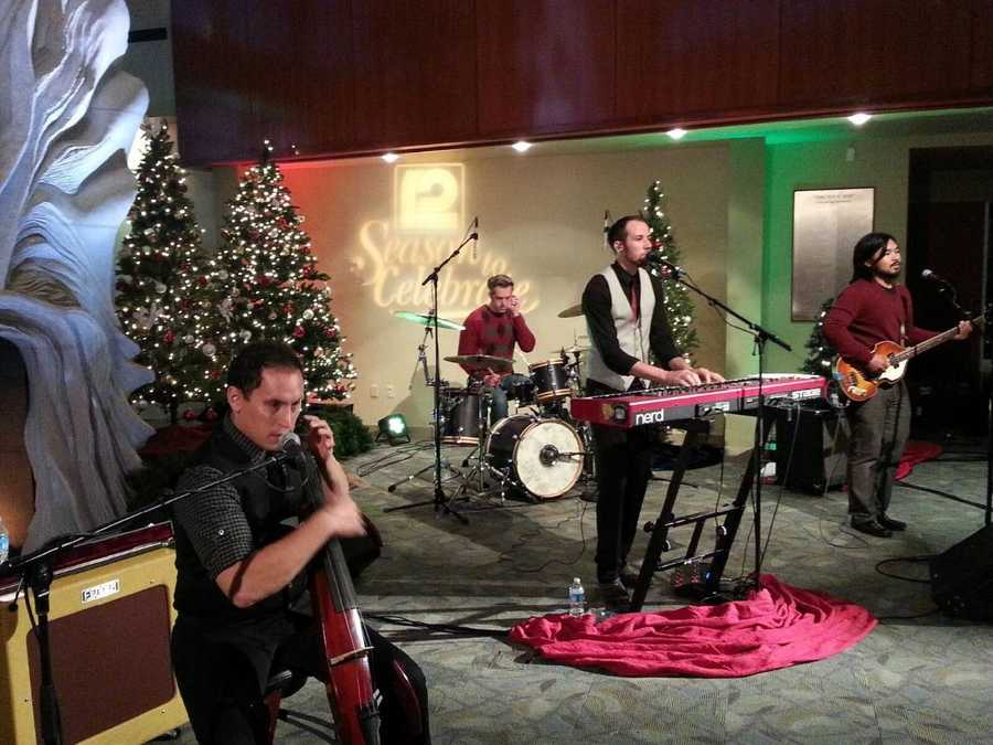 This local band performed their version of John Lennon's Happy Xmas (War is Over).