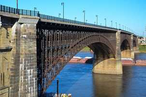 The steel from the first USS Milwaukee was used to build the Eads Bridge in St. Louis, a bridge that remains in use today.