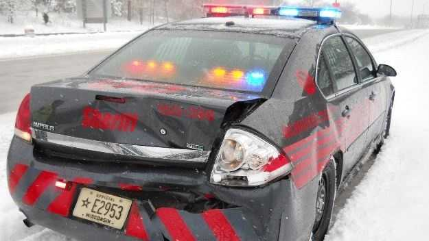 Squad car hit
