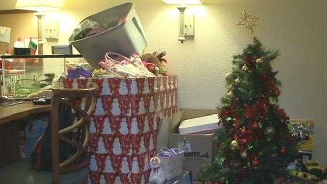 Community support helped a family, whose home was destroyed in fire, celebrate Christmas.
