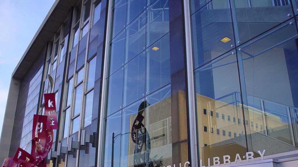 Milwaukee Public Library entrance