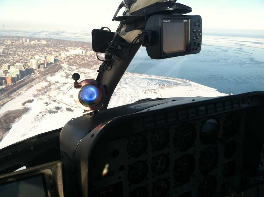 The photos were take from News Chopper 12 on Wednesday.