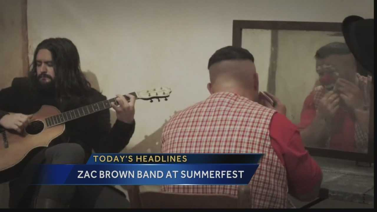 Summerfest organizers announced the Zac Brown Band will play the Big Gig on July 3