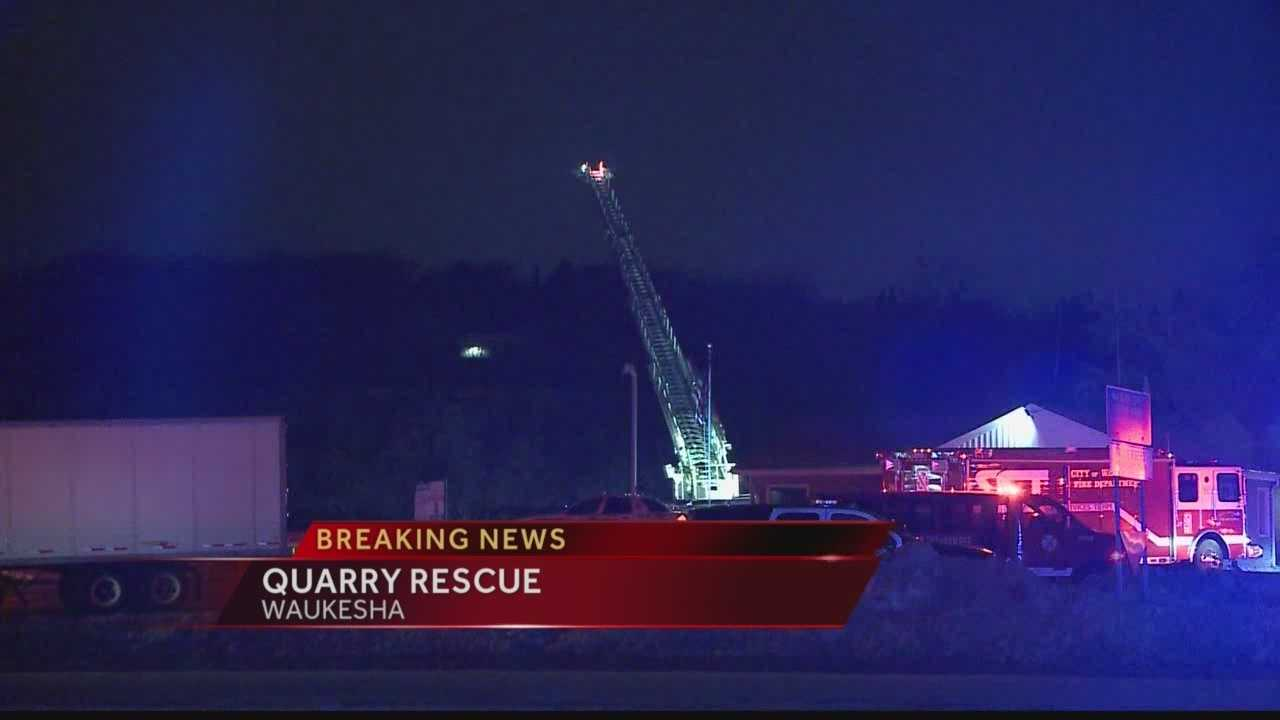 Waukesha county sheriff's deputies are on scene of an incident at quarry in Pewaukee.