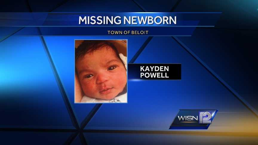 Kayden Powell, 4-days-old, reported missing in Beloit Thursday morning
