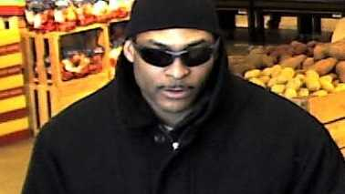 bank robbery suspect at teller