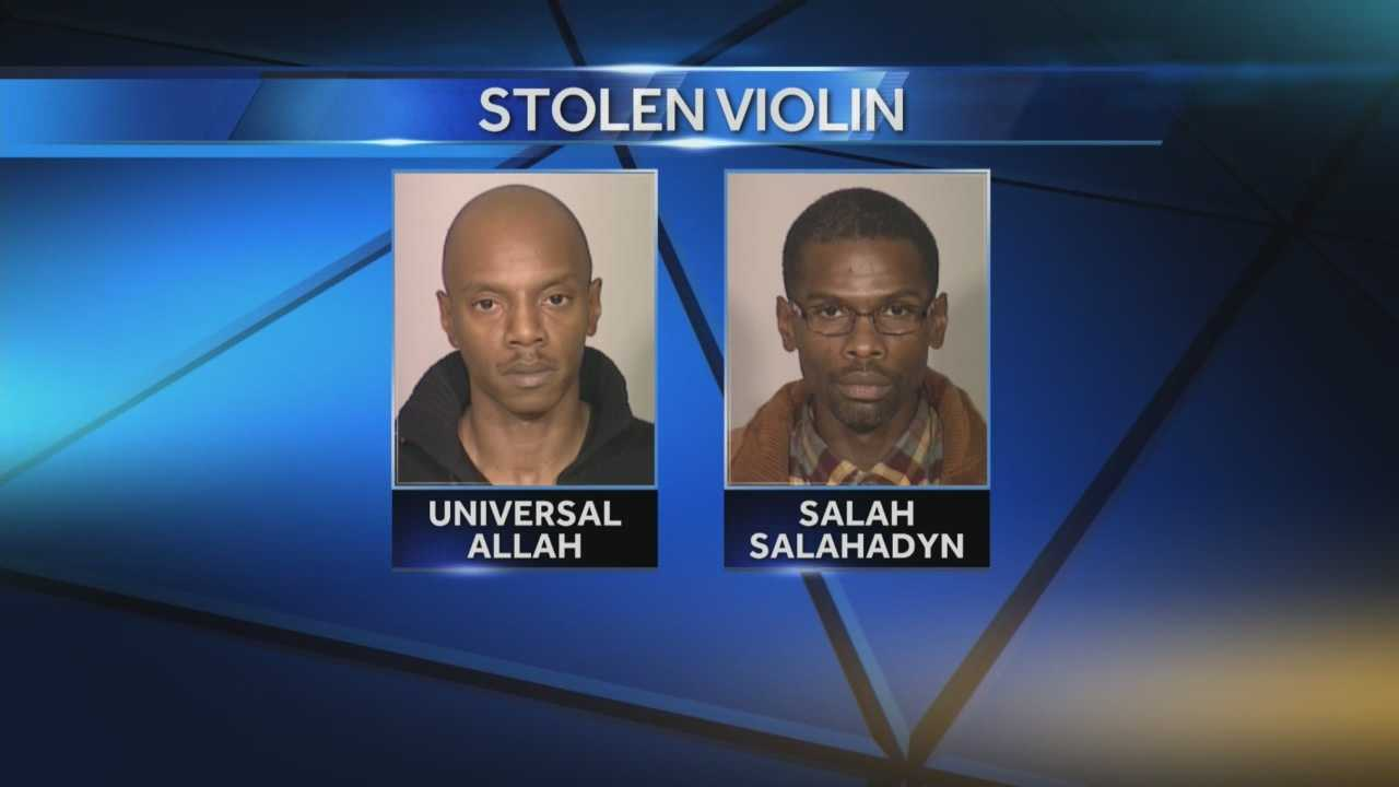 Universal Allah and Salah Salahadyn are charged with robbery in the theft of the Stradivarius violin.
