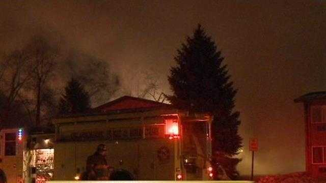 An overnight fire erupted at an apartment building in Oconomowoc.