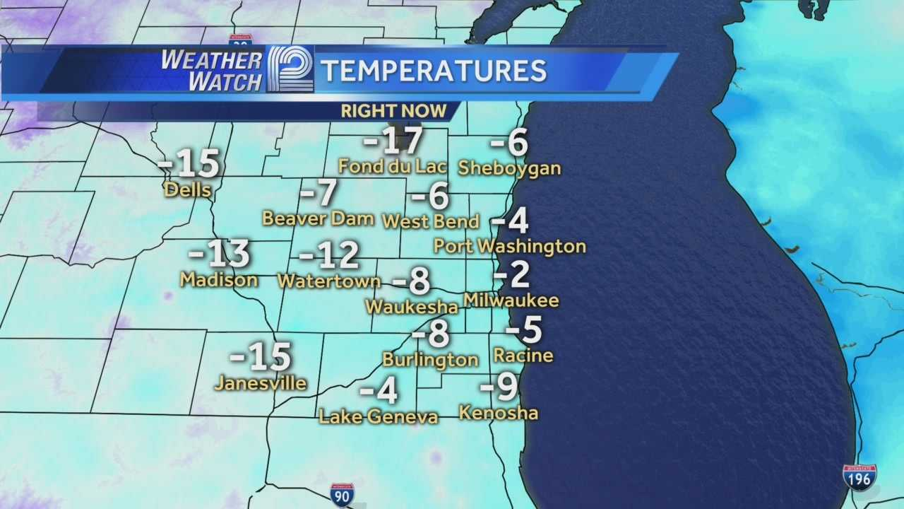The icy grip on Wisconsin will hold on for one more morning.  No wind chill advisories this morning, but wake up temperatures are double digits below zero.
