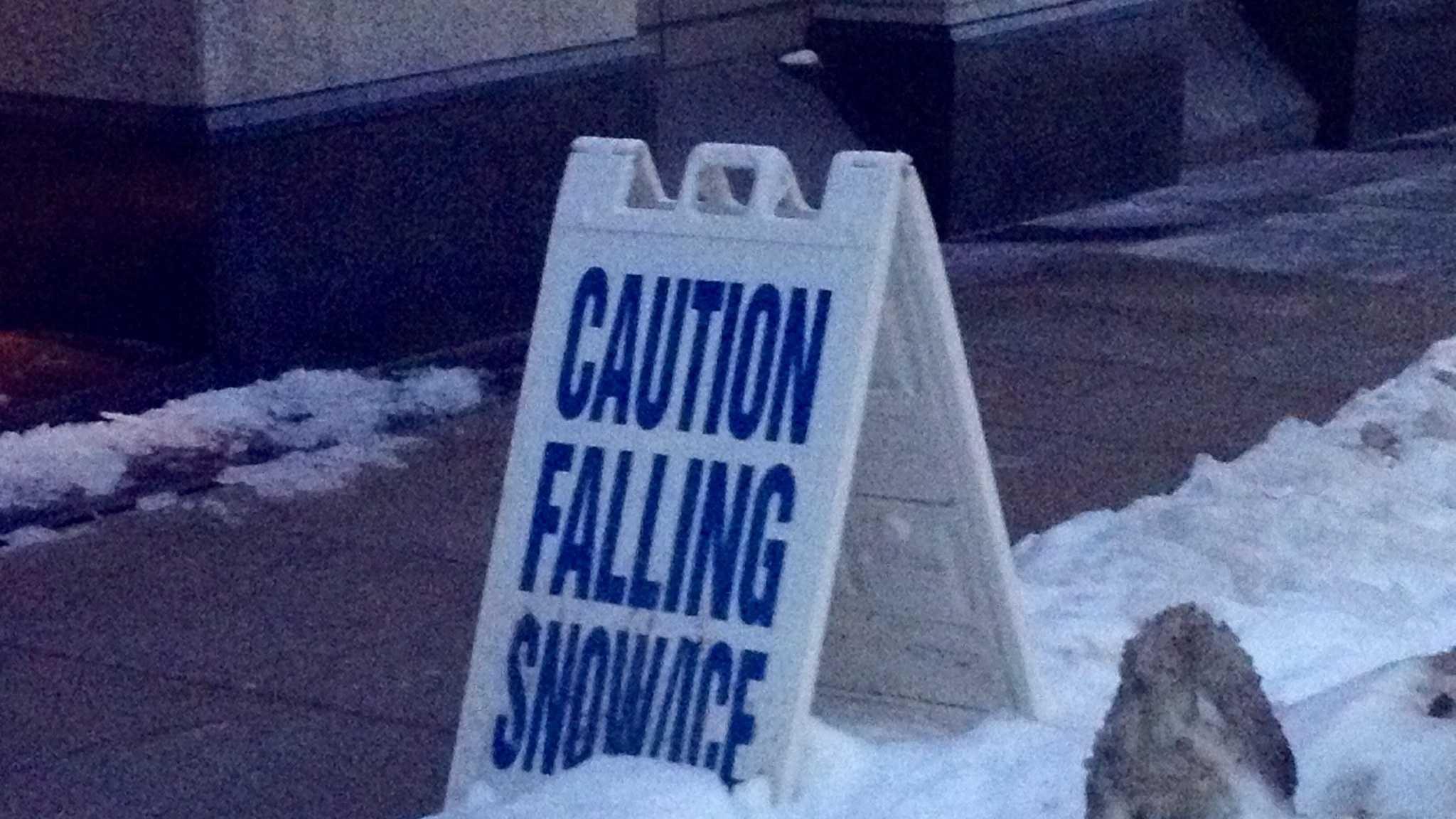 Falling snow sign