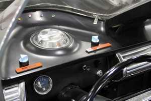 Inside the 1966 Batmobile.