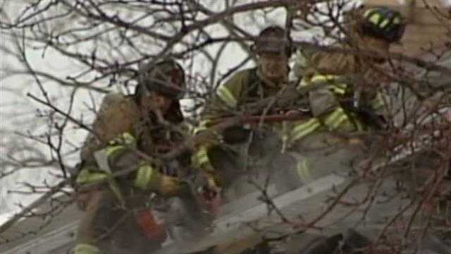 The frigid temperatures are making it tough and treacherous for fire crews to do their job.