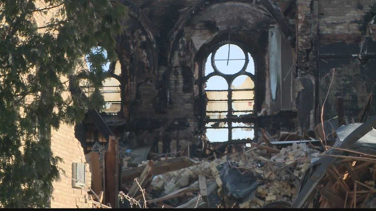 St. Joseph Hall destroyed by fire at St. Lawrence Seminary HS