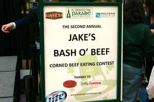 This is the second annual corned beef eating contest held at The Shops of Grand Avenue.
