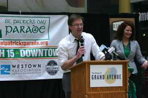 Milwaukee County Executive Chris Abele was on hand for the kick-off press conference to invite everyone to the parade on Saturday in downtown Milwaukee.