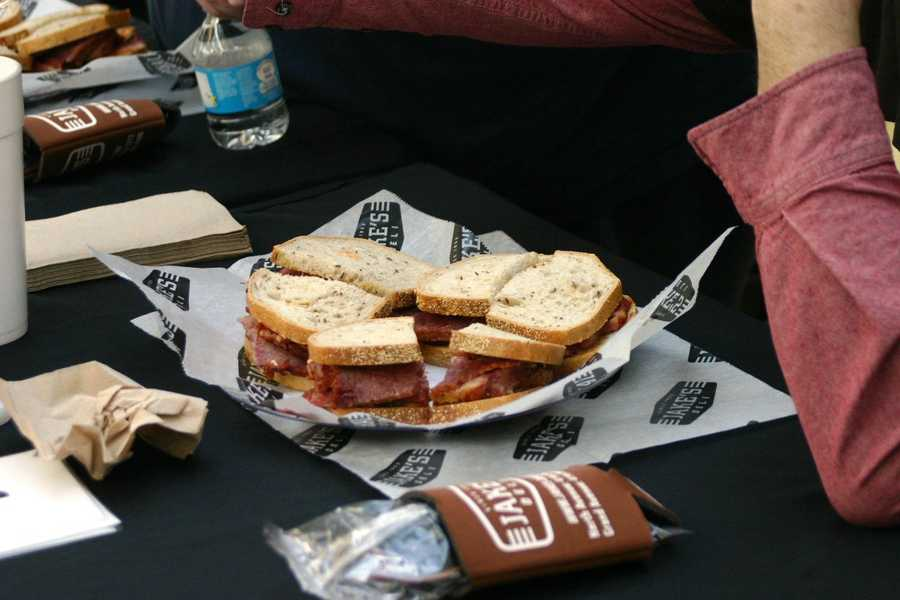 Each contestant started with 3 sandwiches and were given more, if needed.