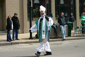 Starting at the Shops of Grand Avenue, the annual Shamrock Club St. Patrick's Day Parade wound through downtown streets.