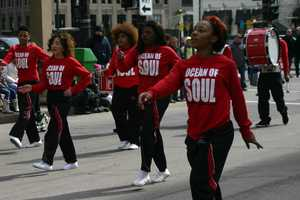 "Milwaukee High School of the Arts ""Ocean of Soul"" dance team."