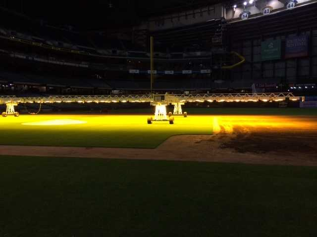 The lights are on nearly 24 hours per day right now.