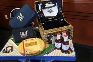 Going to tailgate?  Maybe you need this new Brewers picnic basket or table.