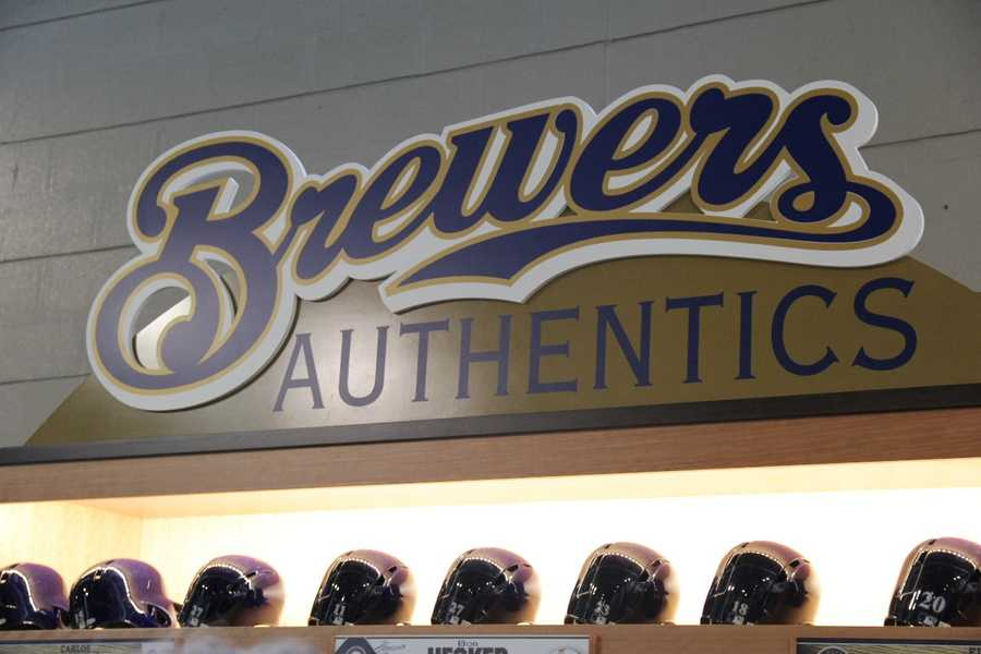 """The Brewers have introduced a new shopping area on the Field Level called """"Brewers Authentics""""."""