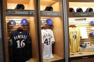 Jerseys, caps, bats, balls and line-up cards are just some of the items available.