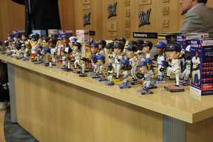The bobble head promotions are some of the most popular.