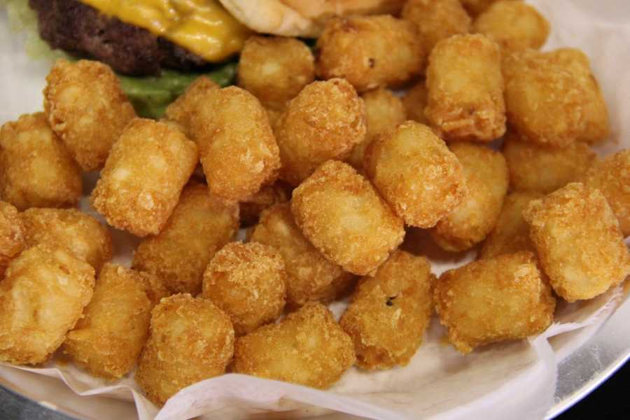 Tots from A.J. Bombers, new restaurant at Miller Park.