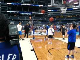 the Kentucky Wildcats practiced earlier
