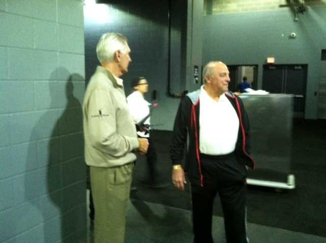 Andy North and Wisconsin Athletic Director Barry Alvarez