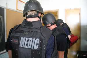They are training how to find and treat victims even while there may still be an active shooter in a different part of the building.