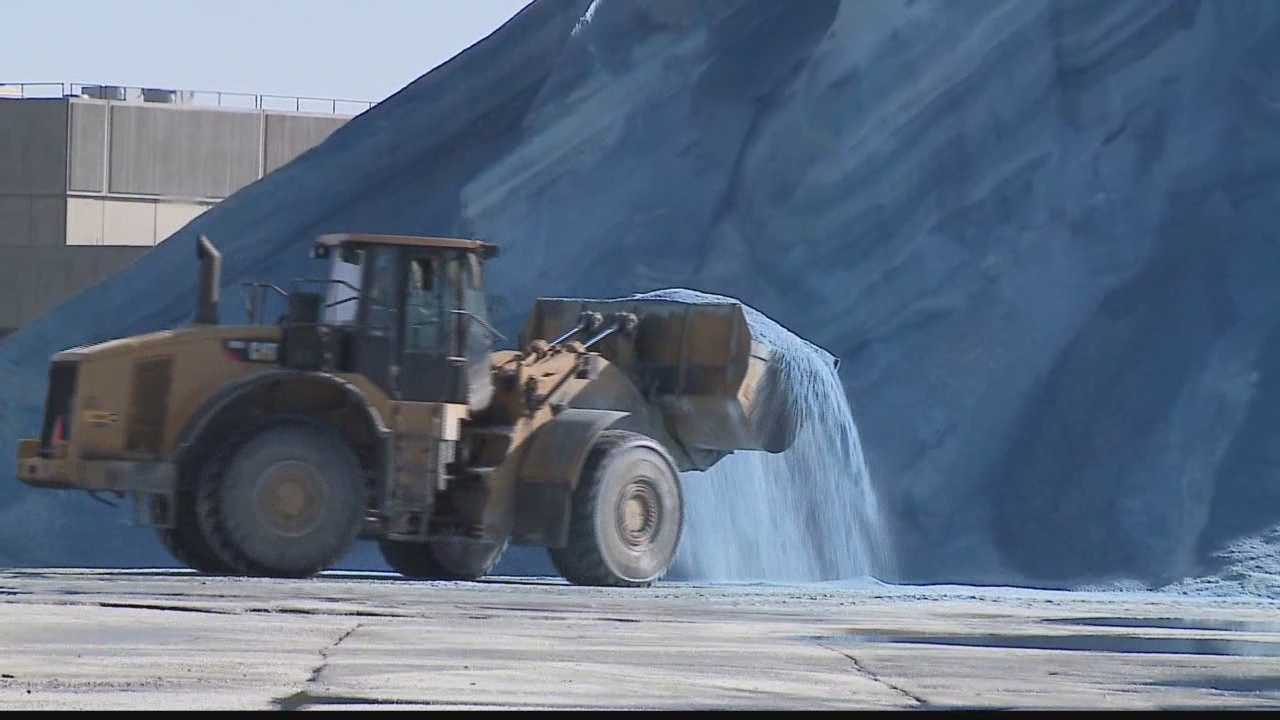 The calendar may say spring, but salt shipments continue to come to the Port of Milwaukee...and road crews needed it Monday night as highways froze over.