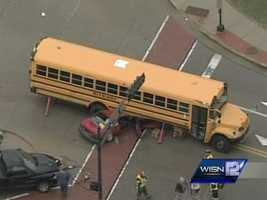 The school says district says police will be contacting parents of children on the bus.