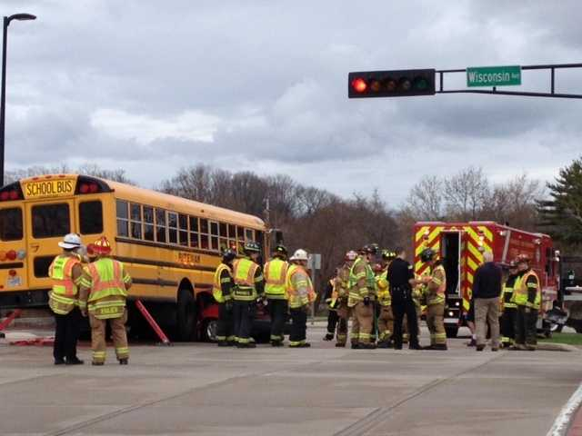 Three students had minor injuries.