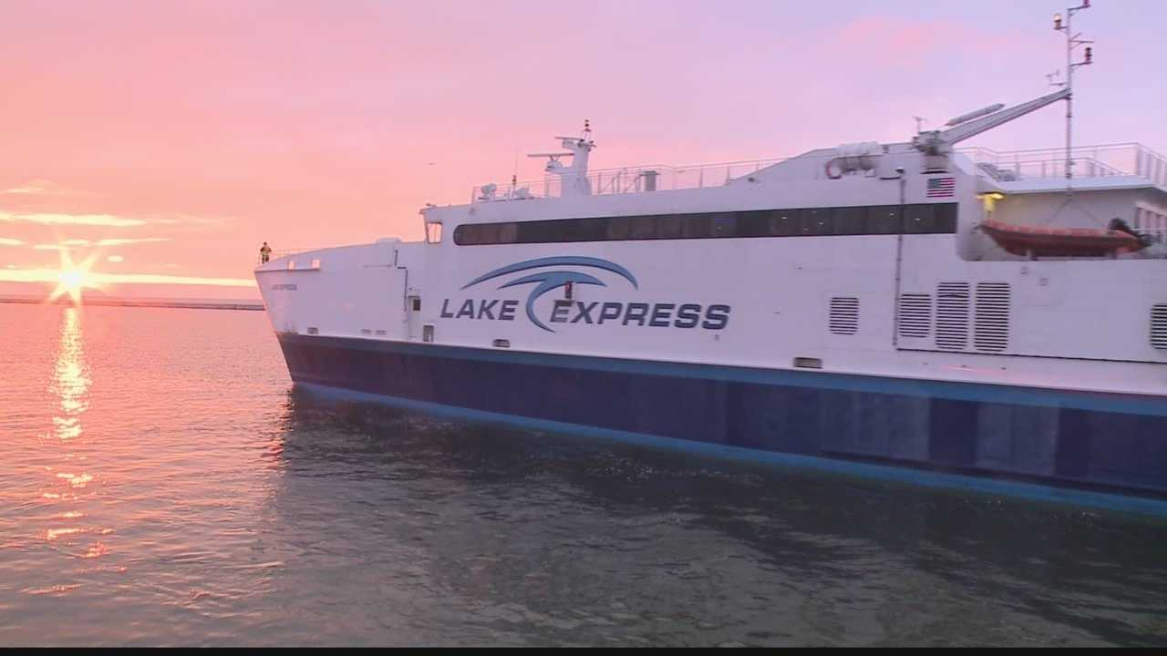 Lake Express Ferry making its first voyage of the season.