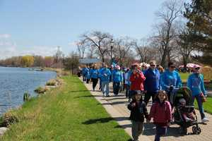 Around 3,500 people participated in the three walks combined.