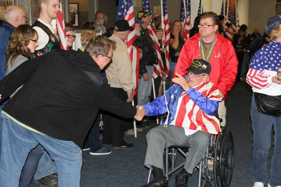 The trip is free for all of the veterans.