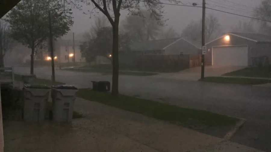 Rain and lightning around 96th and Nash at 7:15 tonight