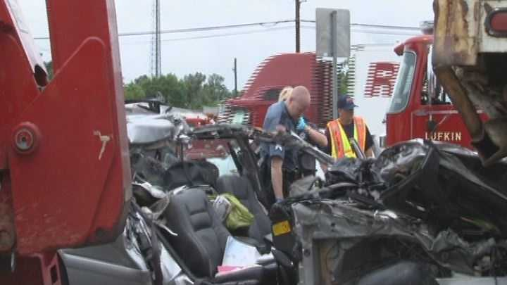 Texas crash scene