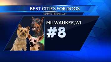 Milwaukee boasts the lowest average cost of a vet visit of all major cities in the U.S.