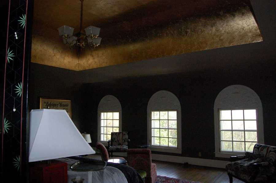 This third floor bedroom was originally a ballroom.