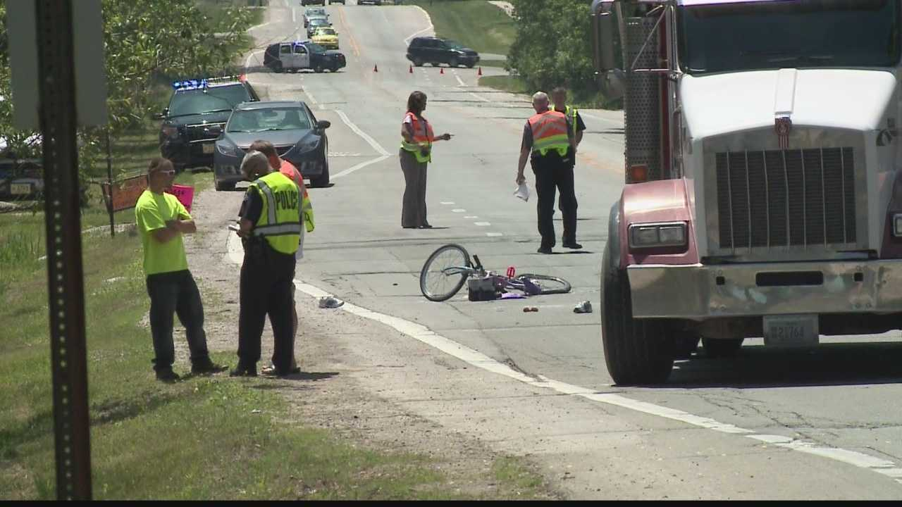 70-year-old woman riding her bike was hit by a dump truck