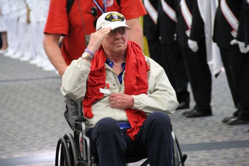 Many vets salute.