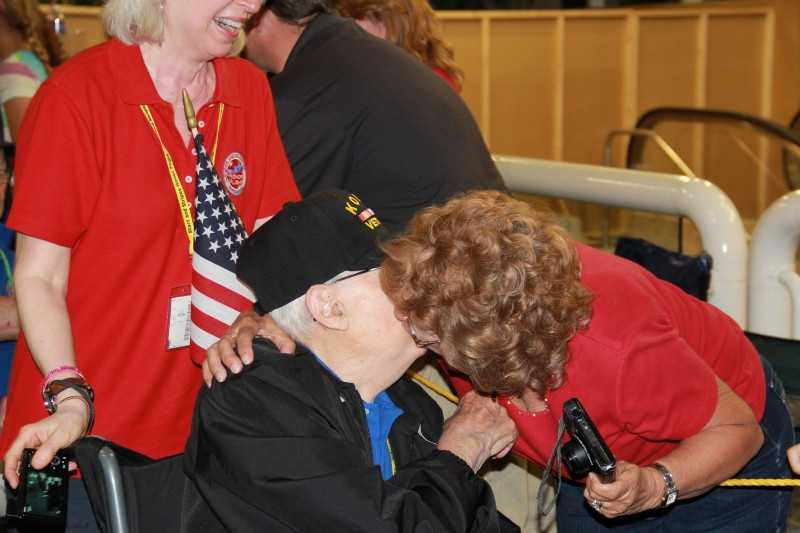 A kiss, a hug, a handshake, all mean so much to the vets