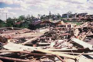 It was just before 1 a.m. June 8, 1984, that a F5 tornado hit Barneveld, Wisconsin.