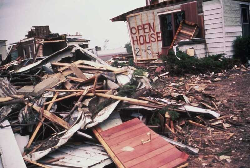 93 homes were destroyed and 64 were damaged