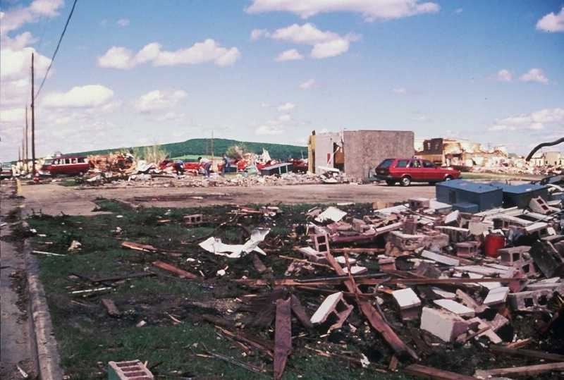 The total path length was about 36 miles and the tornado was on the ground for 59 minutes, according to the National Weather Service.