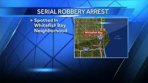 robbery arrest map